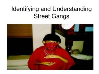 Identifying and Understanding Street Gangs