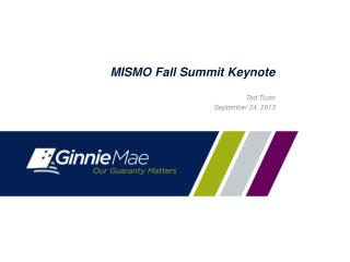 MISMO Fall Summit Keynote