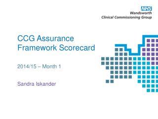 CCG Assurance Framework Scorecard