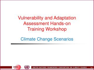 Vulnerability and Adaptation  Assessment Hands-on  Training Workshop Climate Change Scenarios