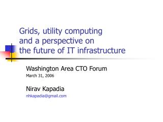 Grids, utility computing and a perspective on the future of IT infrastructure