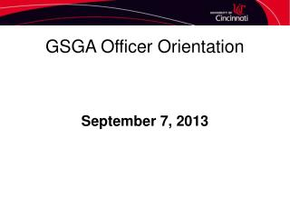 GSGA Officer Orientation