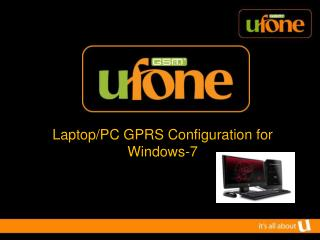 Laptop/PC GPRS Configuration for Windows-7