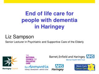 End of life care for people with dementia  in Haringey