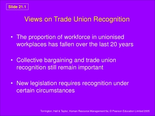 Views on Trade Union Recognition