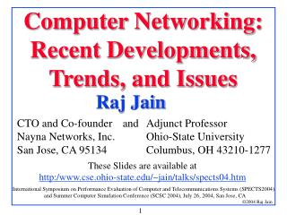Computer Networking: Recent Developments, Trends, and Issues