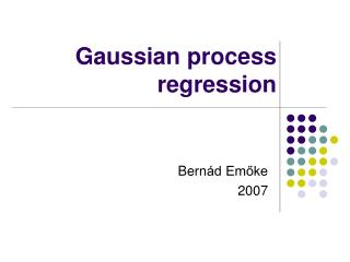 Gaussian process regression