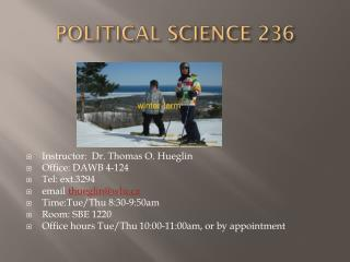 POLITICAL SCIENCE 236