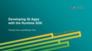 Developing Qt Apps  with the Runtime SDK