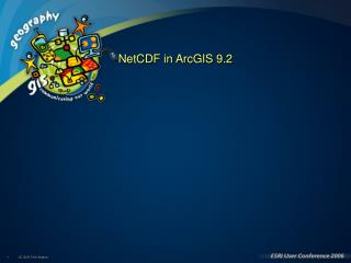 NetCDF in ArcGIS 9.2