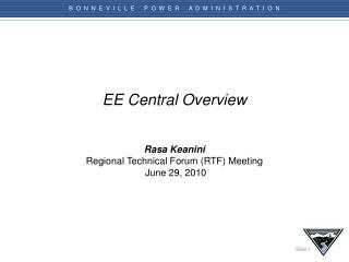 EE Central Overview