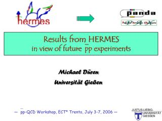 Results from HERMES in view of future  pp experiments