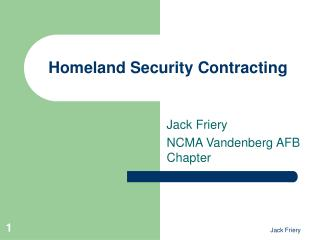 Homeland Security Contracting