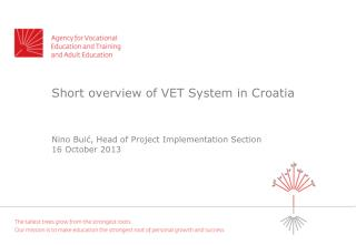 Short overview of VET System in Croatia