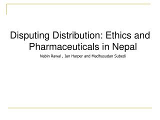 Pharmaceutical Industry in Nepal