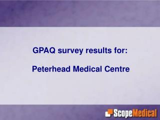 GPAQ survey results for: