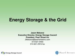 Energy Storage  the Grid