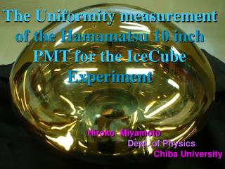 Basic Measurement of the Hamamatsu 10 inch PMT at  –40 degree