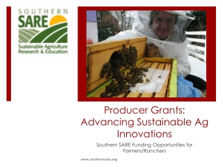 Producer Grants: Advancing Sustainable Ag Innovations