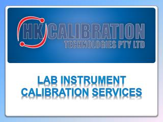 Lab Instrument Calibration Services in Sydney