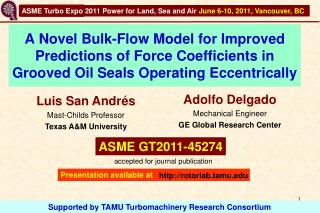A Novel Bulk-Flow Model for Improved Predictions of Force Coefficients in Grooved Oil Seals Operating Eccentrically