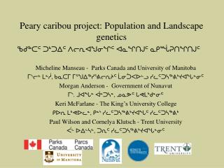 Peary caribou project: Population and Landscape genetics
