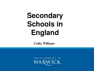 Secondary Schools in England