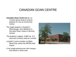 CANADIAN GOAN CENTRE
