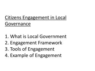 1. What  is Local Government