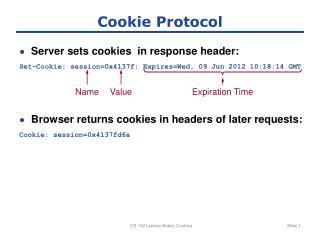 Cookie Protocol