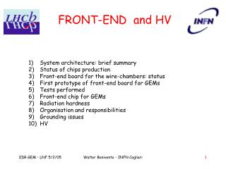 FRONT-END  and HV