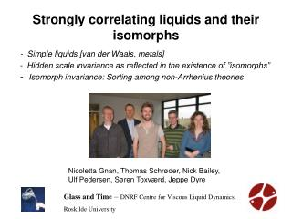 Strongly correlating liquids and their isomorphs