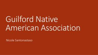 Guilford Native American Association
