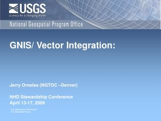 GNIS/ Vector Integration: