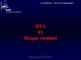 HTA Et Risque résiduel