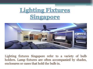 Lighting Fixtures Singapore