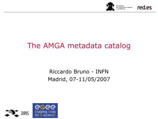The AMGA metadata catalog