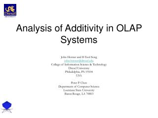 Analysis of Additivity in OLAP Systems