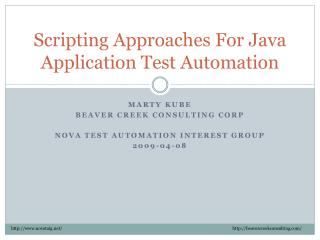 Scripting Approaches For Java Application Test Automation