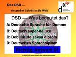 DSD   Was bedeutet das