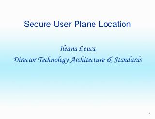 Secure User Plane Location
