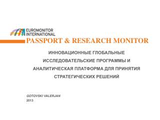 Passport & Research Monitor