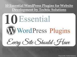 10 Essential WordPress Plugins for Website Development