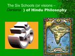 The Six Schools or visions   Darsana of Hindu Philosophy