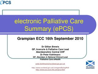 electronic Palliative Care Summary (ePCS)