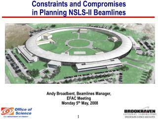 Constraints and Compromises  in Planning NSLS-II Beamlines