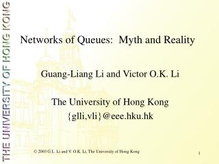 Networks of Queues:  Myth and Reality