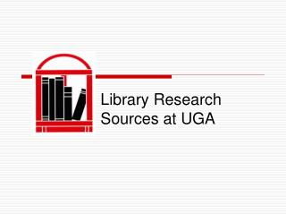 Library Research Sources at UGA