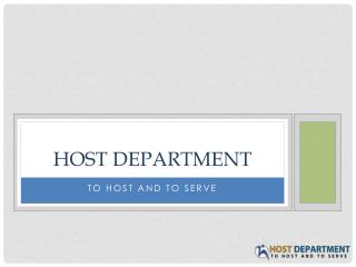 Free Domain Giveaway competition from Host Department