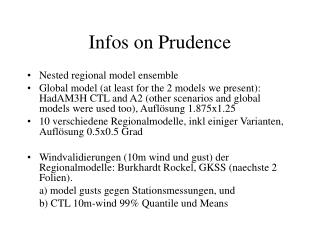 Infos on Prudence